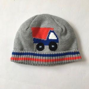 Gymboree winter hat truck boys toddler size 12-24